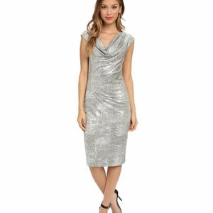 Vince Camuto Silver Bodycon Dress Size 8